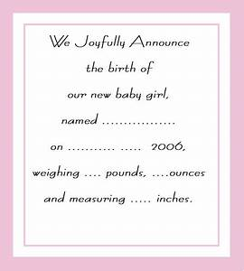 Create free printable birth announcements birth announcements templates for Free printable birth announcements