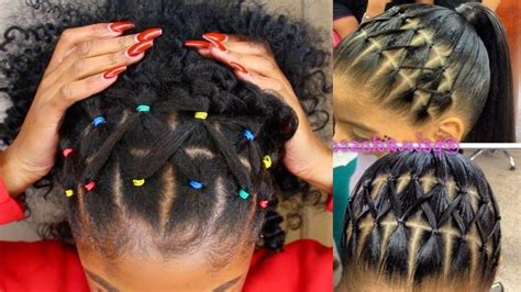 inspirations  braid hairstyles  rubber bands