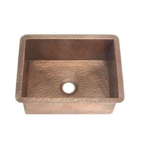 belle foret self rimming undermount weathered copper
