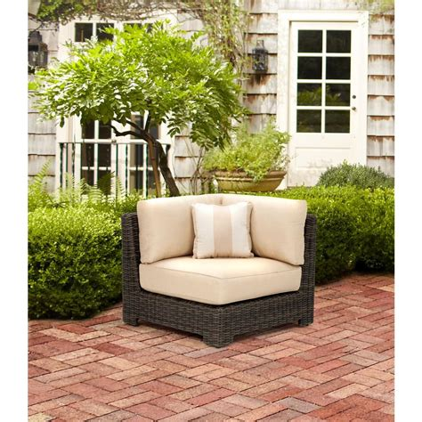 brown northshore patio corner sectional chair in