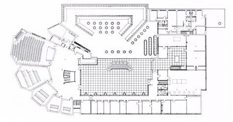 plans of architecture alvar aalto wolfsburg cultural center 1962