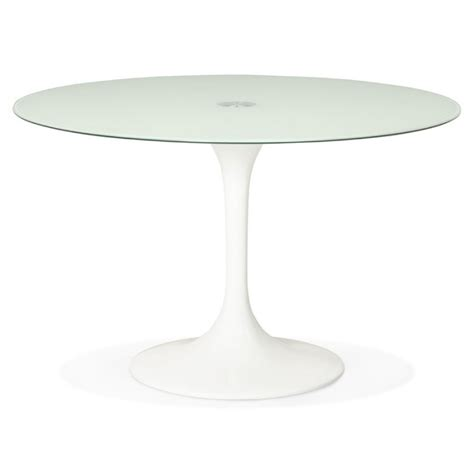 table ronde gamme tic 120 table ronde design marjorie en verre ø 120 cm blanc