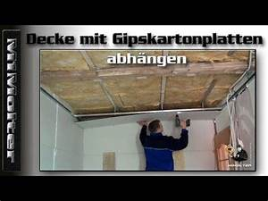 Schallschutz Decke Abhängen : decke mit gipskartonplatten abh ngen anleitung von m1molter youtube cuisine model diy ~ Frokenaadalensverden.com Haus und Dekorationen