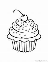 Cupcake Coloring sketch template