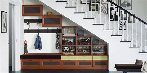 the stairs closet organization awkward space solver under the stairs california closets new england blog