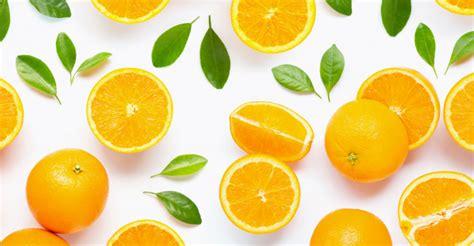 Fresh Orange Citrus Fruit With Leaves Isolated White