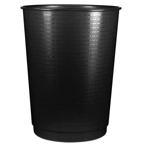 module de classement bureau cep mailroom corbeille à papier noir 40 litres poubelle