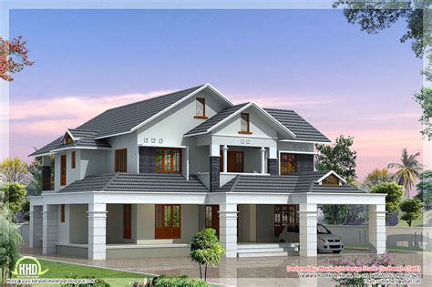 Two Floor Bed Luxury 5 Bedroom Villa House Design Plans