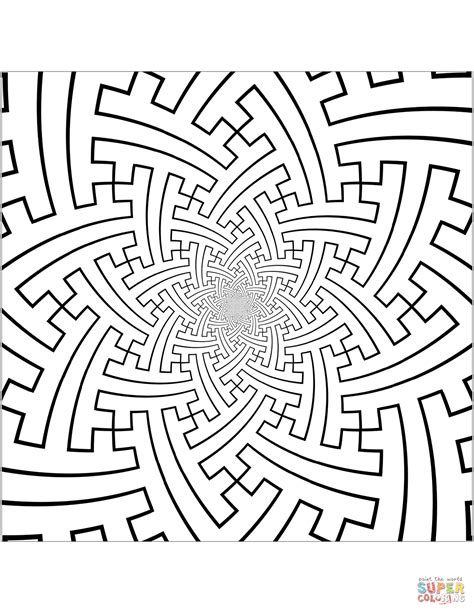 Printable Labyrinth Patterns Patterns Coloring Pages