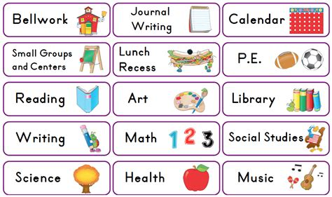 mrs solis s teaching treasures schedule cards freebie 107 | Screen Shot 2013 07 25 at 9.09.58 PM
