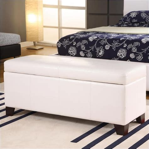 modus upholstered milano blanket storage bench white