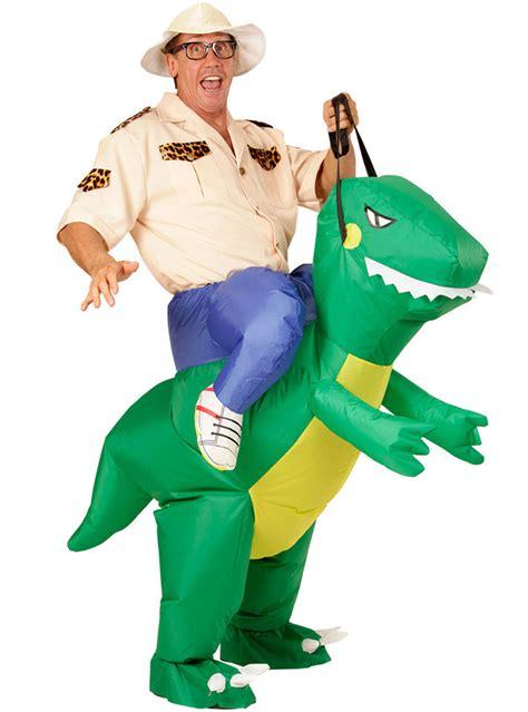 adults dinosaur rider costume