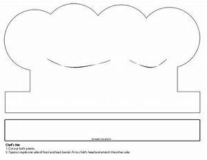 Chef hat paper craft template 4 lesson plans for Chef hat template printable