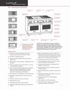 Download Free Pdf For Wolf Df606dg Range Manual