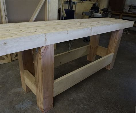 how to make a work table woodworking workbench sturdy inexpensive and quick to