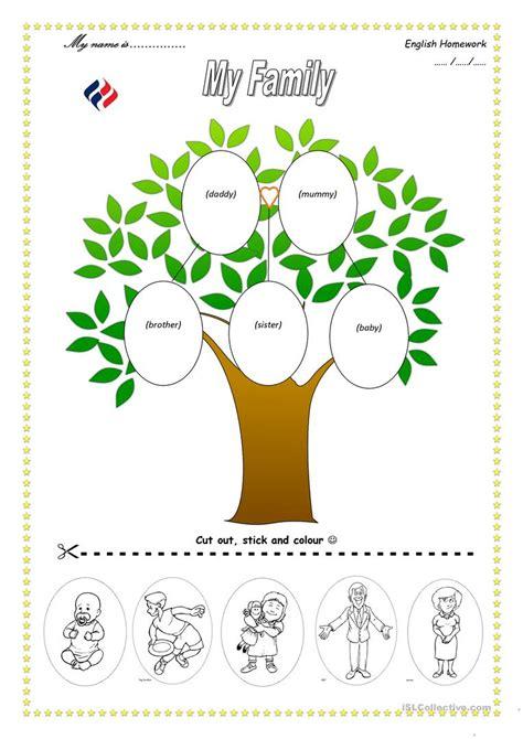 family tree worksheet  esl printable worksheets