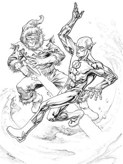 flash  captain cold  tom raney coloring pages superhero coloring pages superhero
