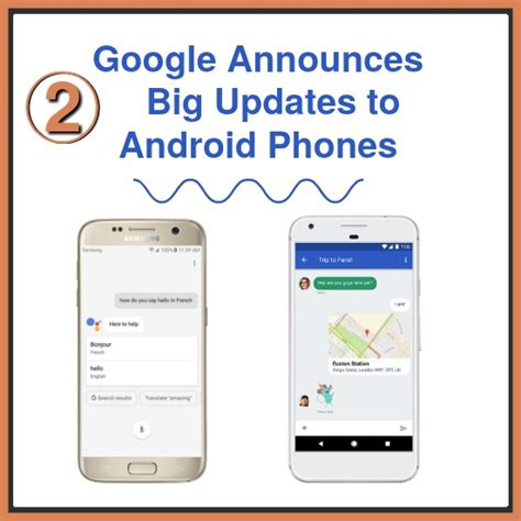 update android phone announces two big updates to android phones