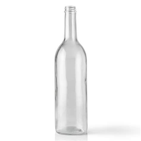 wine bottle 25 oz clear glass wine bottle packaging options direct