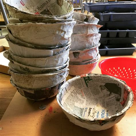 easy paper mache bowls art projects  kids