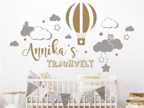 Wandtattoo Kinderzimmer Himmel by Wandtattoo Traumwelt Mit Name Und Wolken Wandtattoo De