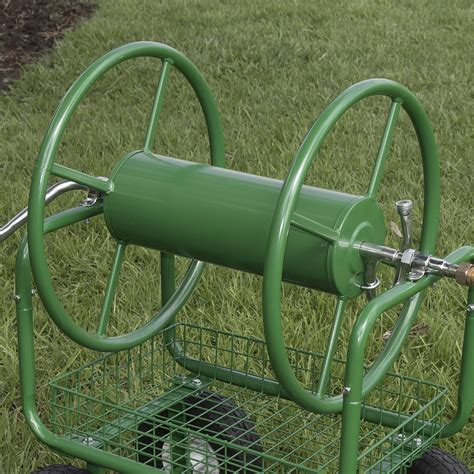 400ft water hose reel cart outdoor garden yard planting