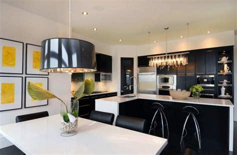 black drum pendant contemporary kitchen atmosphere