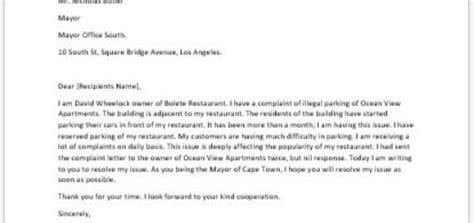 complaint letter  spoiled food writelettercom