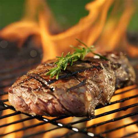 steak grill flaming wine cooking american classic pairings grilled rub steaks barbecue meat volare restaurant deal garnish rosemary wines entrees