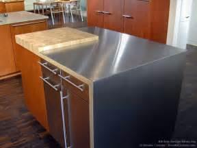 stainless steel kitchen island with butcher block top custom portfolio of kitchens countertops