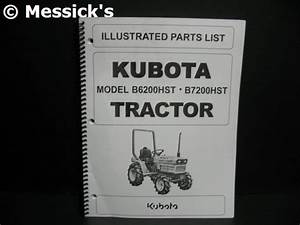 Kubota  B6200hst    B7200hst Parts Diagrams  Part   97898
