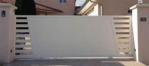Portail 3 50m : portail aluminium r v lation alga ~ Premium-room.com Idées de Décoration