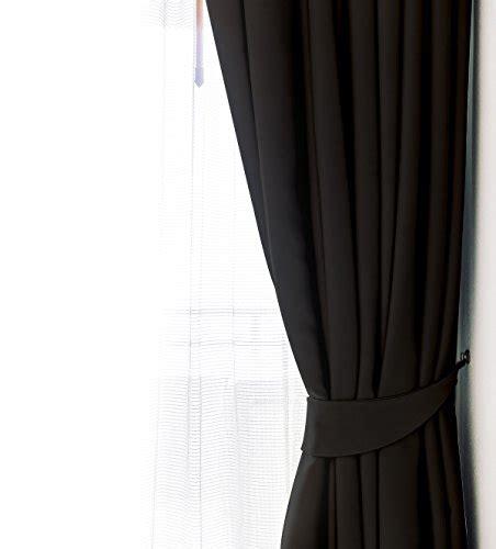blackout curtains window panel drapes black color 2 set 52