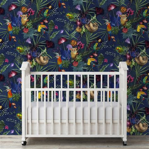 Animal Wallpaper For Home - exotical animal print tropical wallpaper by gillian arnold