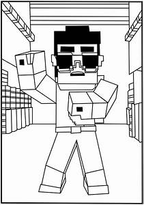 Minecraft Creeper Coloring Pages Getcoloringpagescom