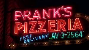 Vintage Neon Sign  Franks Pizzeria On Belmont Chicago In