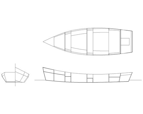 Skiff Boat Drawings by Initial Drawings For A Low Power Outboard Skiff