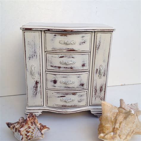 shabby chic jewellery box shabby chic jewelry box music box white rustic jewelry armoire