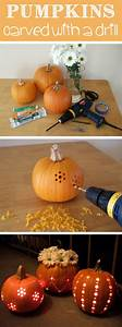 Pumpkin, Carving, With, A, Drill
