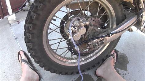 Klr 650/motorcycle Rear Brake Bleed