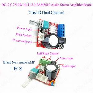 D Class Stereo Audio Power Amplifier Board Dual Channel 2