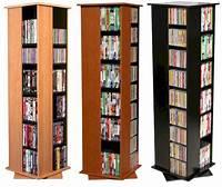 dvd storage racks 612 CD 288 DVD Floor Spinner Storage Tower Rack - NEW | eBay