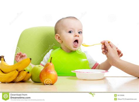 Baby Eating Healthy Food Fruits Stock Photos  2,738 Images