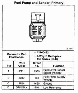 Wiring Diagram For Fuel Pump On A 2008 Gmc Sierra 1500
