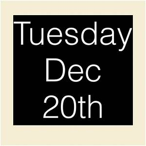Tuesday Dec 20th   Contests Vancouver