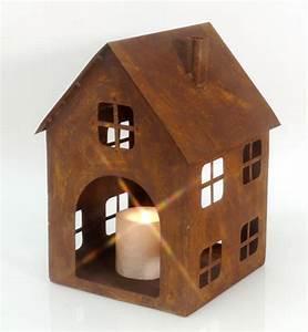 Große Kerzenständer Metall : gro e laterne haus metall rostig h 30 cm windlicht teelichthalter kerzenst nder ebay ~ Indierocktalk.com Haus und Dekorationen