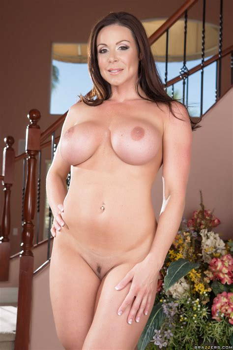 A Brunette Milf Gives Pleasure With Her Massive Rack