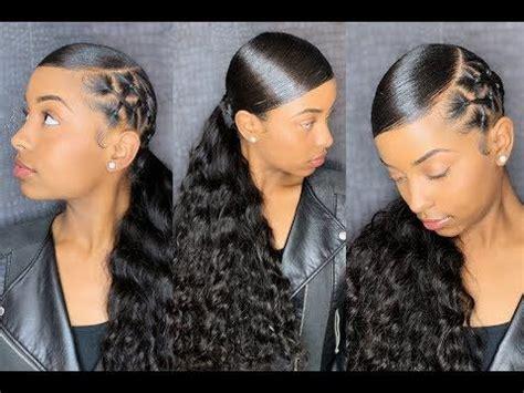 sleek ponytail reloaded chrisscross methy video black hair information sleek