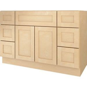 48 inch base cabinet bathroom vanity drawer base cabinet natural maple shaker