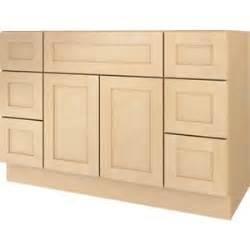 bathroom vanity drawer base cabinet natural maple shaker